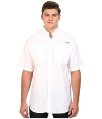 Columbia Tamiami Ii S S Tall White Men's Short Sleeve Button Up