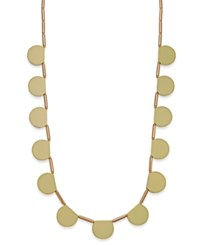 Kate Spade New York 12K Gold Plated White Multi Pendant Long Necklace Yellow