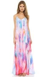 Lotta Stensson Feather Maxi Dress Pastel Feather