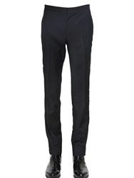 Maison Martin Margiela 18Cm Wool Poplin Pants With Side Bands
