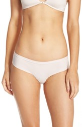 Halogenr Women's Halogen 'No Show' Lace Back Hipster Panties Pink Pearl