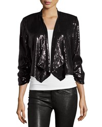 Laundry By Shelli Segal 3 4 Sleeve Sequined Jacket Black