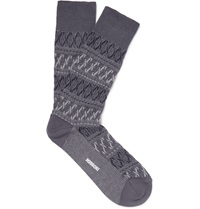 Missoni Zigzag Weave Cotton Blend Socks Gray