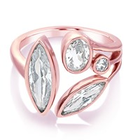 Infinity And Co Theresa Multi Jewel Ring Rose Gold