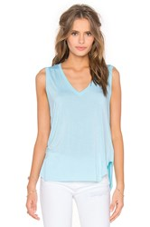 Feel The Piece Taura V Neck Tank Blue