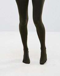 Asos 80 Denier Tights Khaki Green