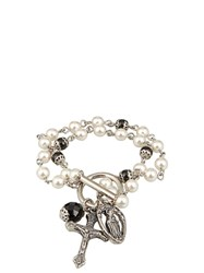 Givenchy Faux Pearl Rosary Bracelet Multi