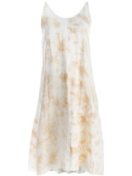 Individual Sentiments Tie Dye Print Tank Dress Nude And Neutrals