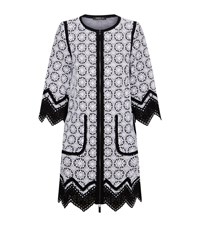 Andrew Gn Contrast Trim Lace Coat Female White