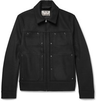 Acne Studios Metal Wool Blend Jacket Black