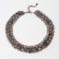 Present In The Laine Silver Twisted Bead Necklace