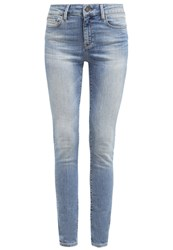 Mavi Jeans Alissa Straight Leg Blue Green Nolita Light Blue Denim