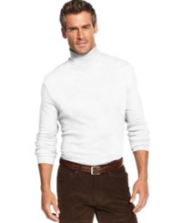 John Ashford Big And Tall Long Sleeve Turtleneck Interlock Shirt Bright White