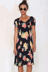Nasty Gal After Party Vintage Satiya Floral Dress