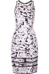 Milly Surrealist Cotton Blend Fil Coupe Dress Gray