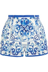 Dolce And Gabbana Printed Brocade Shorts