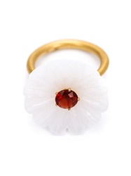 Marie Helene De Taillac Floral Ring White