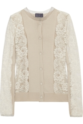 Lanvin Lace And Silk Blend Cardigan