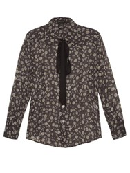 Marc Jacobs Daisy Print Cotton Voile Shirt Black