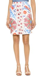 All Things Mochi Uzbek Short Skirt Beige Pink