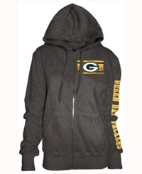5Th And Ocean Women's Green Bay Packers Backfield Le Hoodie Charcoal
