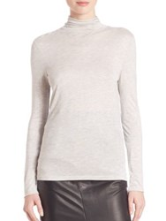Set Heathered Turtleneck Sweatshirt Light Grey