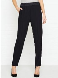 Jigsaw Relaxed Crepe Dinner Trousers Black