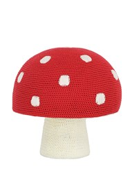 Anne Claire Hand Crocheted Mushroom Pouf