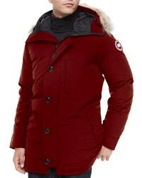 Canada Goose Chateau Fur Trimmed Parka Red