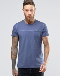 Wrangler Acid Wash Pocket T Shirt Blue
