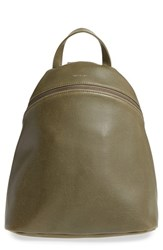 Matt And Nat 'Aries' Vegan Leather Backpack Green Olive
