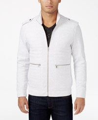 Inc International Concepts Men's Frederic Ribbed And Quilted Jacket Only At Macy's Whispy Grey Heather