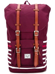 Herschel Supply Co. Double Strap Fastening Backpack Red