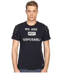 Vivienne Westwood Anglomania We Are Not Disposable T Shirt Navy