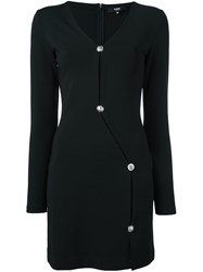 Versus Buttoned Dress Black