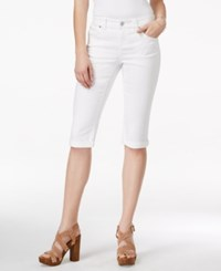 Inc International Concepts Cropped White Denim Wash Jeans Only At Macy's