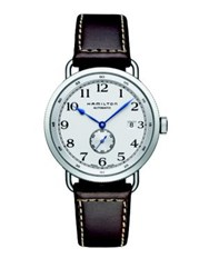 Hamilton Khaki Navy Pioneer Auto Stainless Steel And Leather Strap Watch