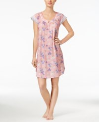Charter Club Lace Trimmed Floral Print Nightgown Only At Macy's Dotted Floral