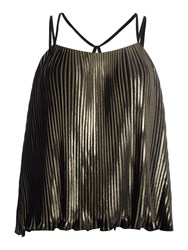 Lydc Sleeveless Pleated Cami Top Gold