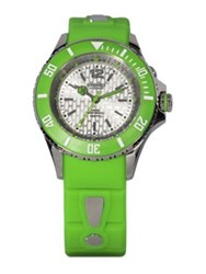 Kyboe Neon Green Silicone And Stainless Steel Strap Watch 40Mm