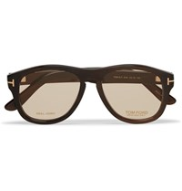 Tom Ford Private Collection Aviator Style Horn Optical Glasses Brown