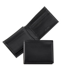 Tasso Elba Plonge Leather Bifold Wallet Black