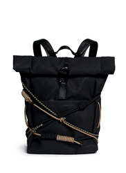 3.1 Phillip Lim 'Alpine' Roll Top Canvas Backpack Black