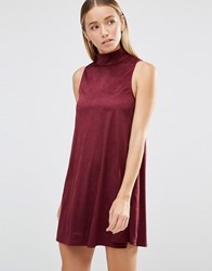 Ax Paris Suedette Swing Dress Plum Purple