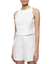 Phoebe Couture Sleeveless Rosette Crop Top
