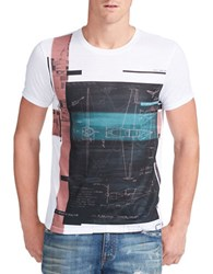 William Rast Aerial Plan Graphic Tee White