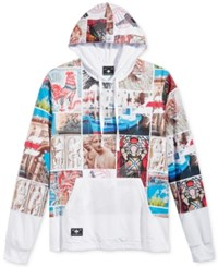 Lrg Men's Graphic Print Pullover Hoodie White