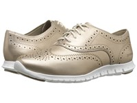 Cole Haan Zerogrand Wing Oxford Gold Metallic Women's Shoes