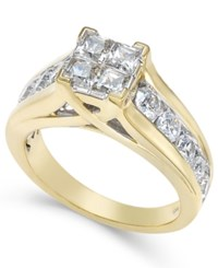 Macy's Diamond Engagement Quad Ring 2 Ct. T.W. In 14K Gold Yellow Gold