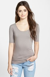 Women's Lotus Effect Reversible Elbow Sleeve Tee Fawn